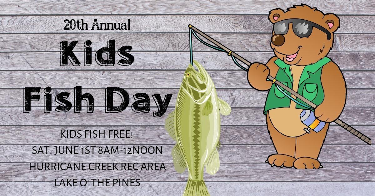 Lake O' The Pines hosts 20th Annual Kids Fish Day - Lake O
