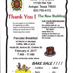 Mim's Fire Department & EMS Pancake Breakfast and Bake Sale